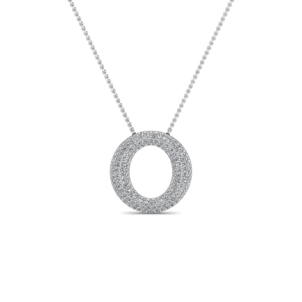 Open circle pave diamond pendant necklace in 14k white gold open circle pave diamond pendant necklace in 14k white gold fdpd1294angle1 nl wg aloadofball Gallery