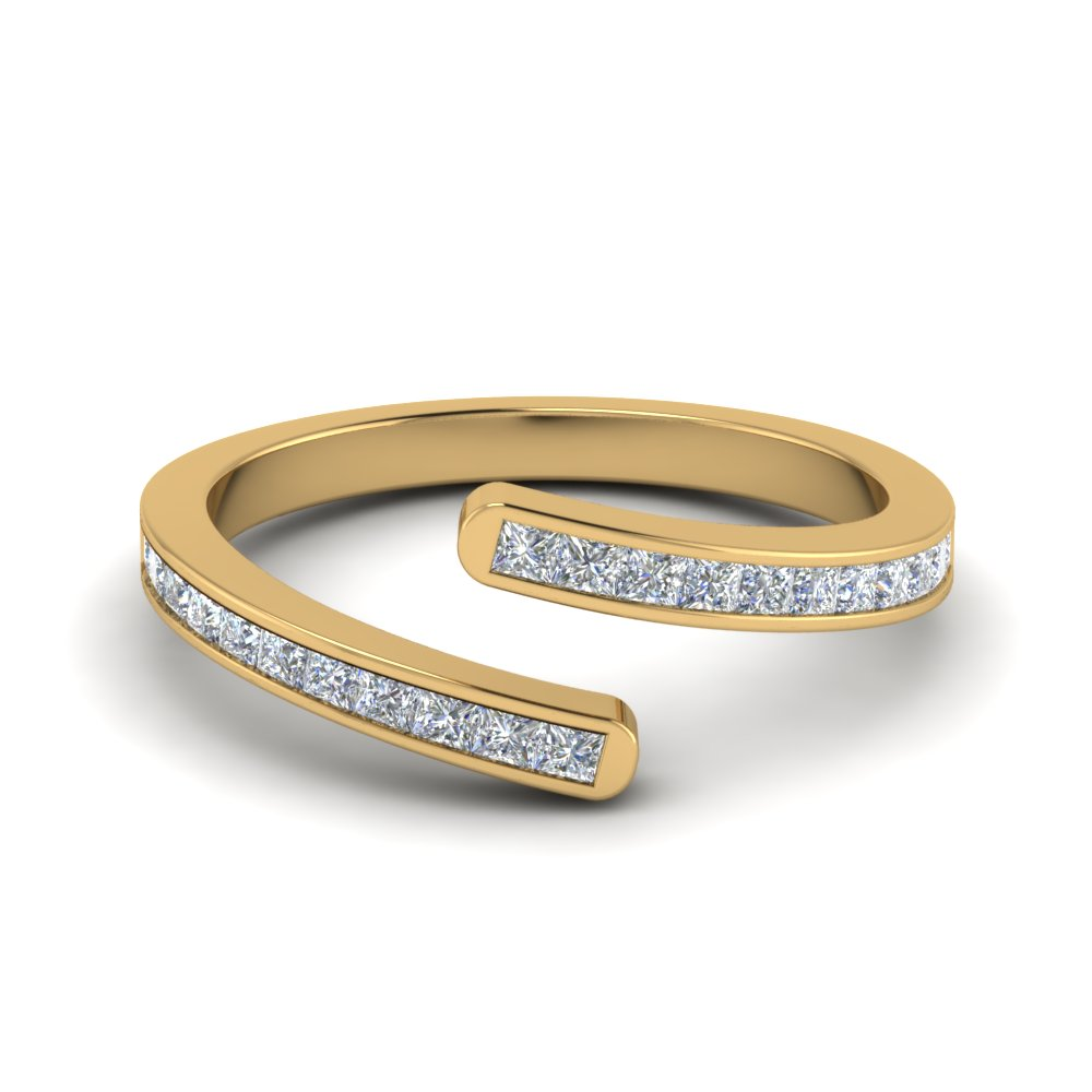 open diamond anniversary band in 14K yellow gold FD9025PR NL YG
