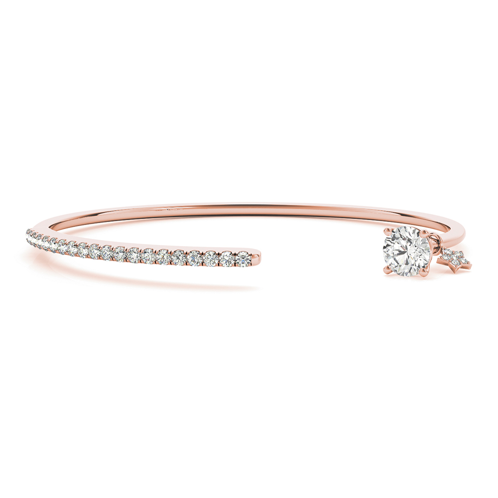 bow jewellery or open detail bangles rose equilibrium in silver gold bangle