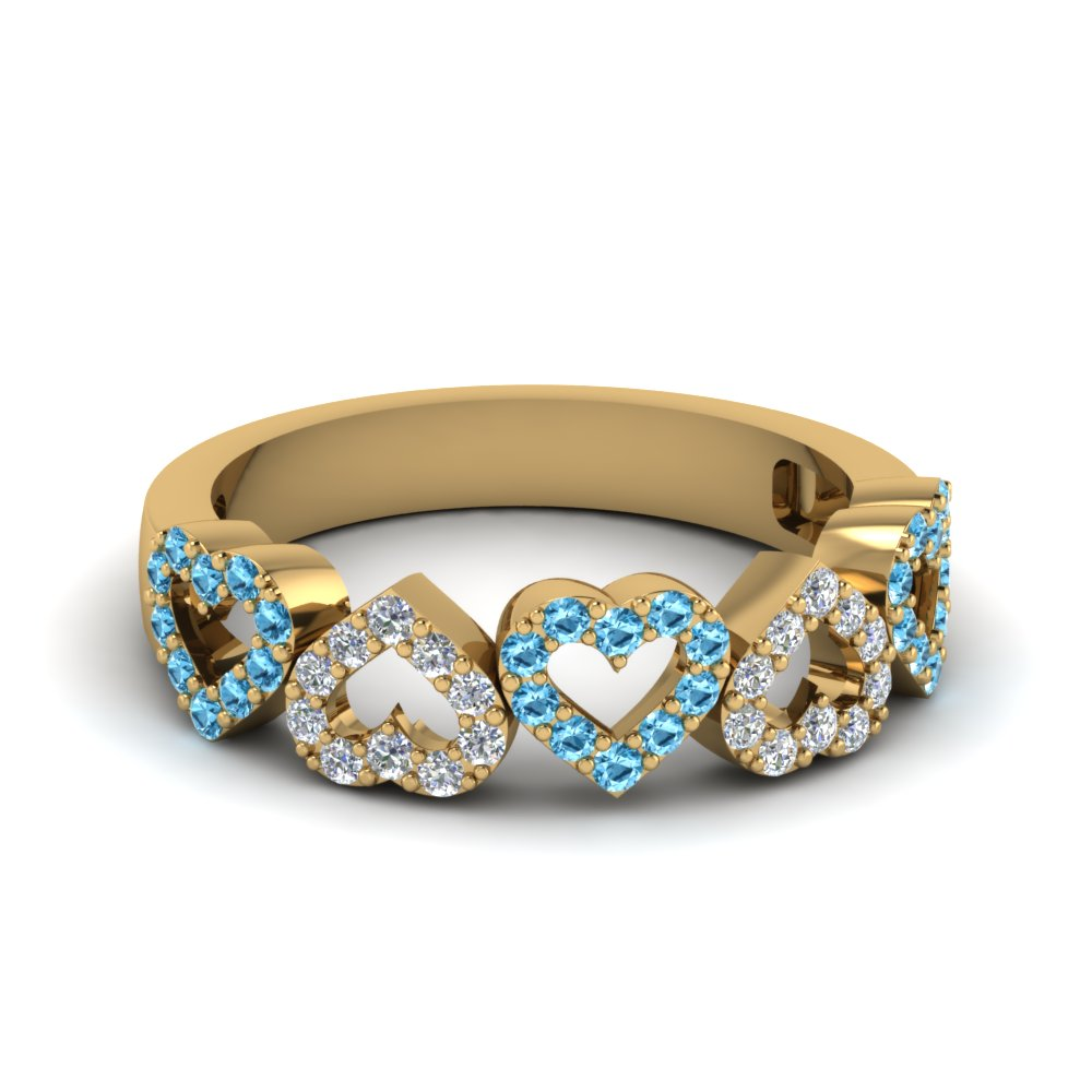 Open Heart Blue Topaz Band