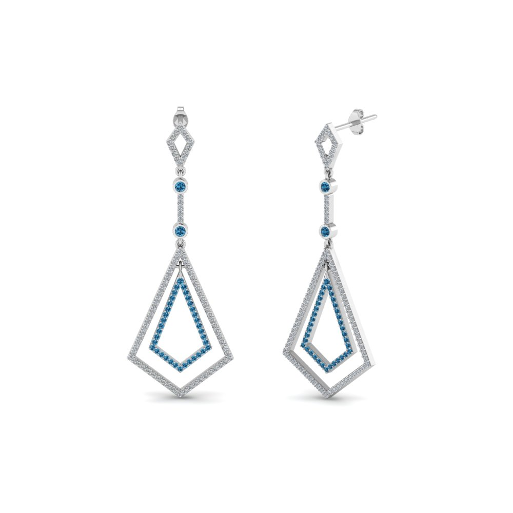Open Kite Topaz Drop Earring