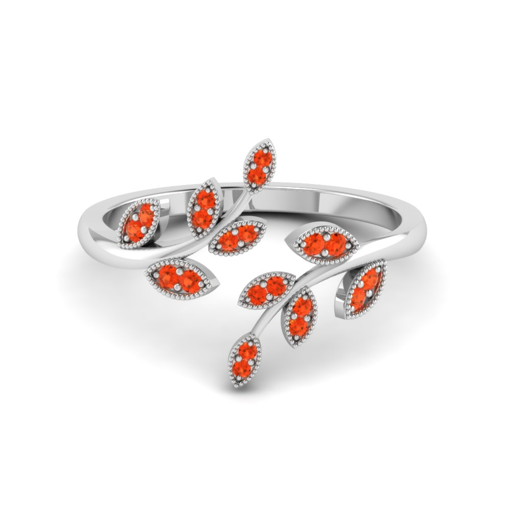 open leaf orange topaz engagement ring in FD8342GPOTO NL WG GS