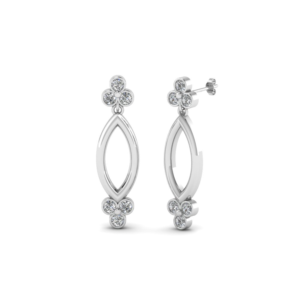 Open Marquise Stud Earring