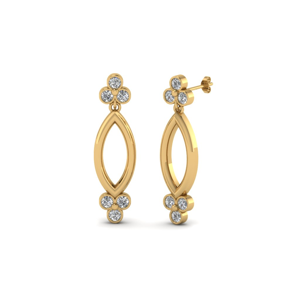 Inexpensive Round Diamond Earrings For Her
