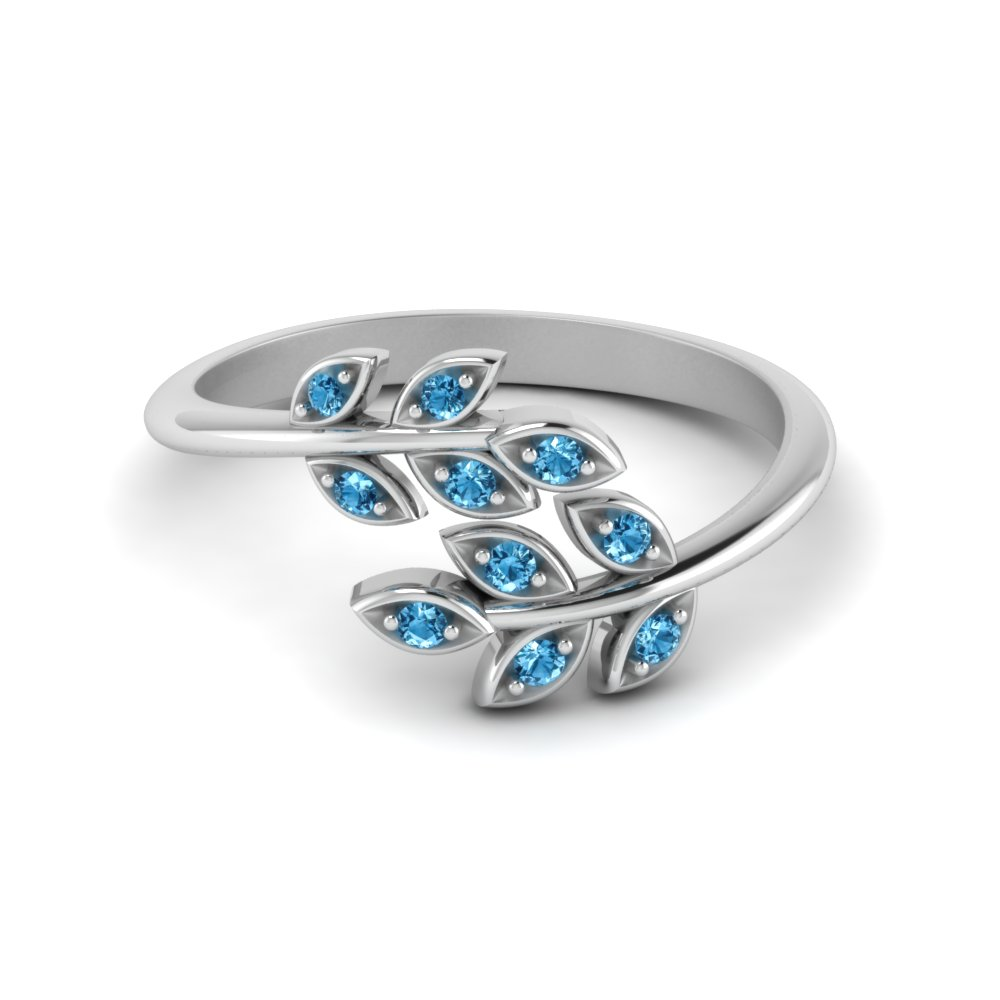 Open Ring With Beautiful Leaf Design