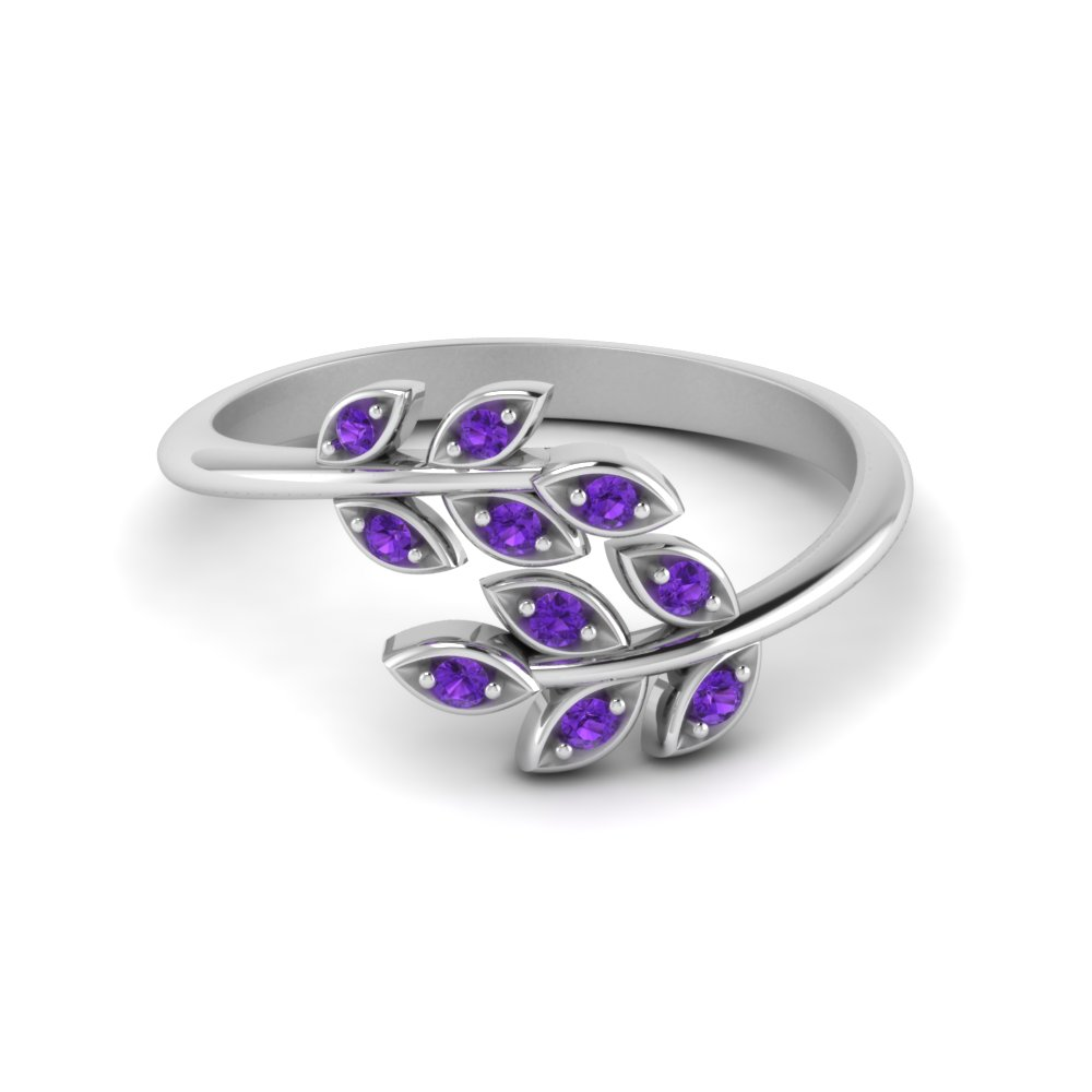 Open Ring With Purple Topaz