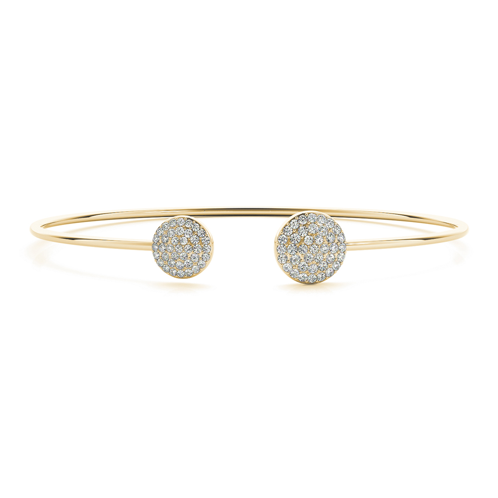open round diamond bangle bracelet in FDOBR70501 NL YG