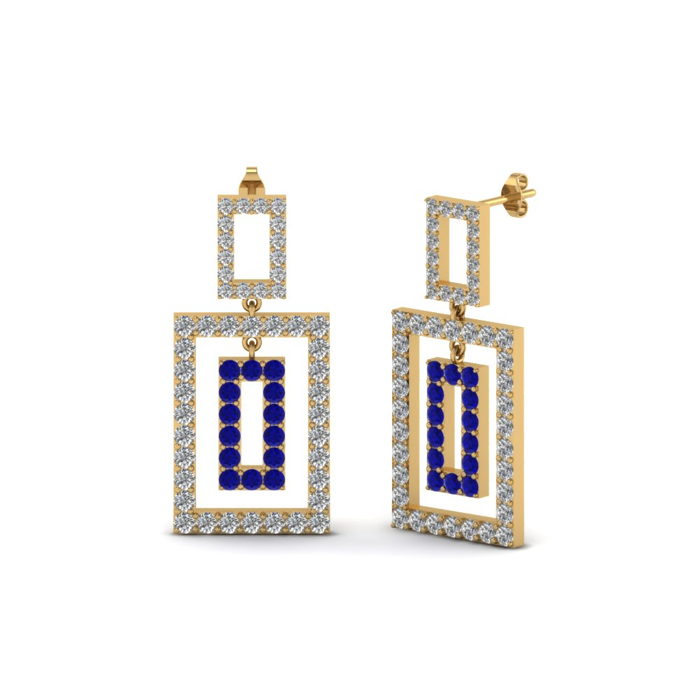 open-square-round-diamond-drop-earring-for-women-with-sapphire-in-14K-yellow-gold-FDOEAR40607GSABL-NL-YG