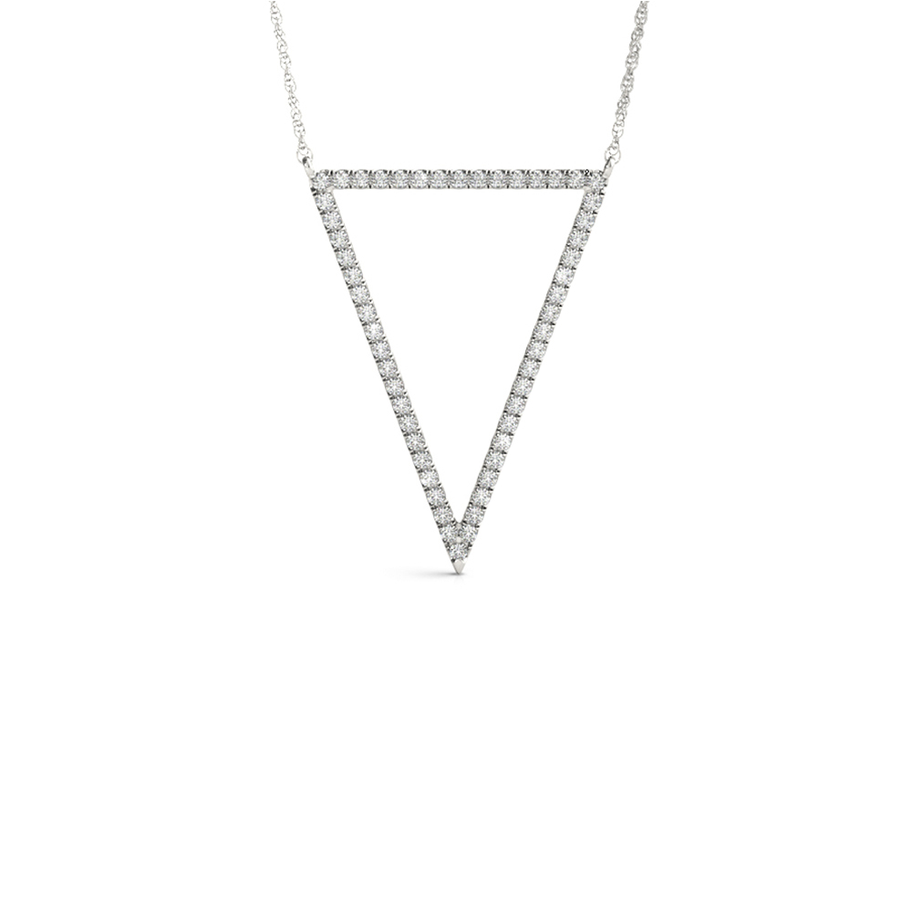 open triangle diamond necklace in FDOPD32450ANGLE1 NL WG