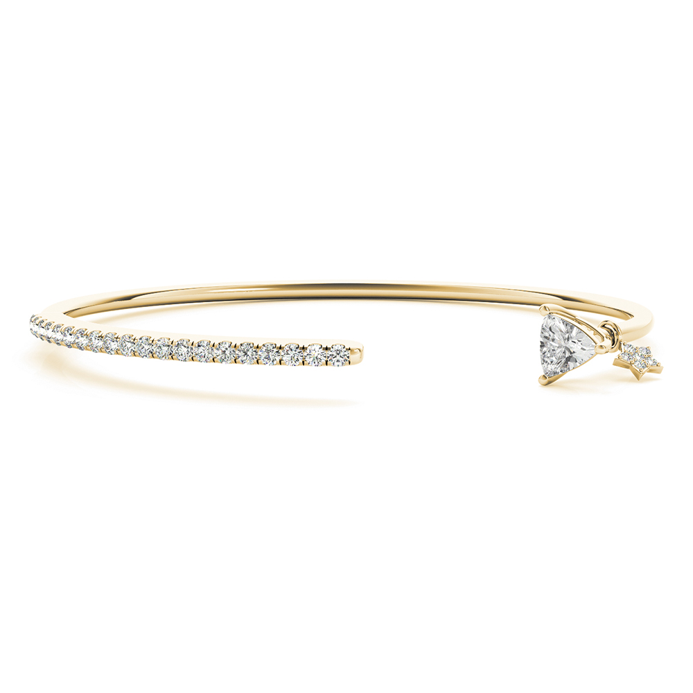 Trillion Diamond Open Cuff Bracelet