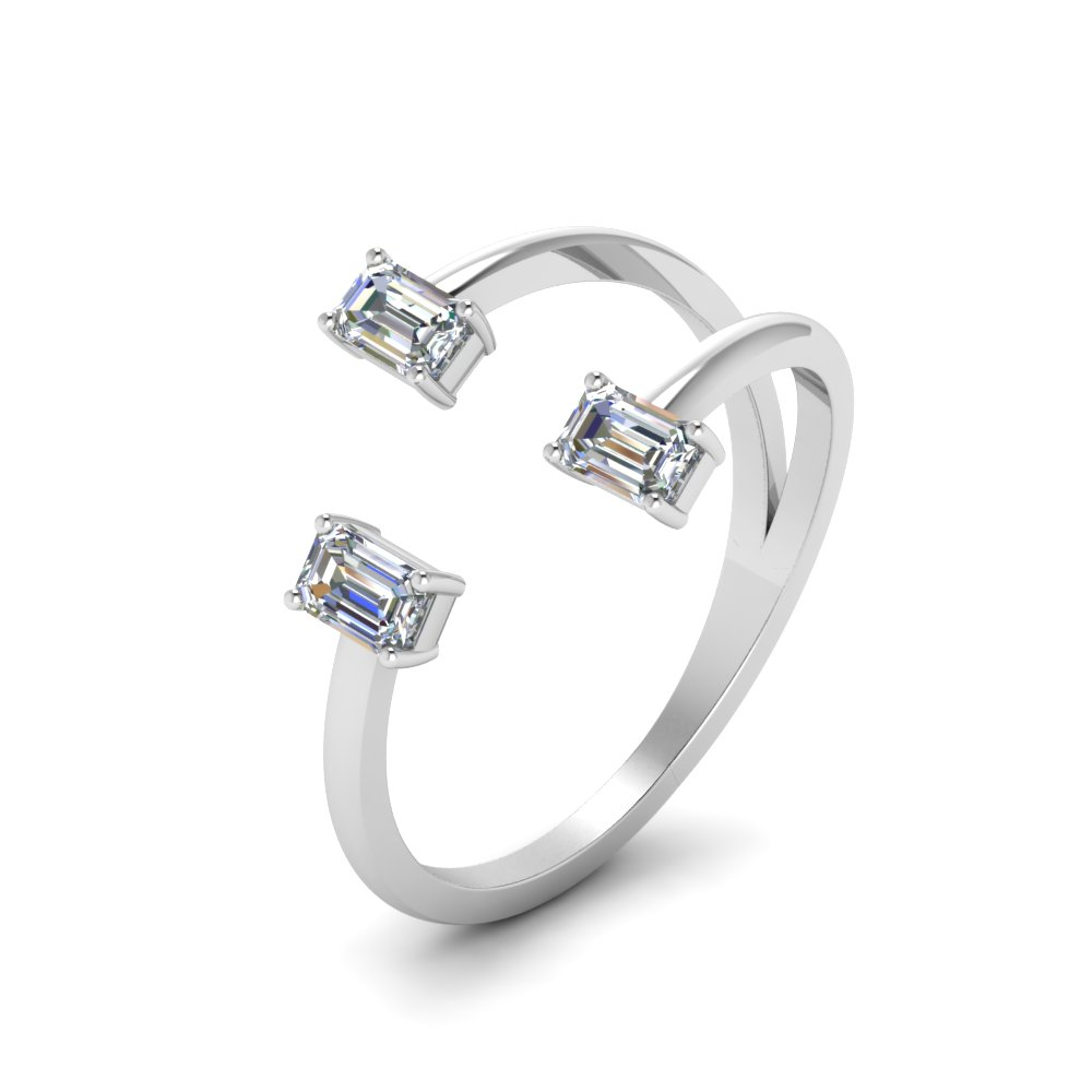 Open Trio Cuff Diamond Ring