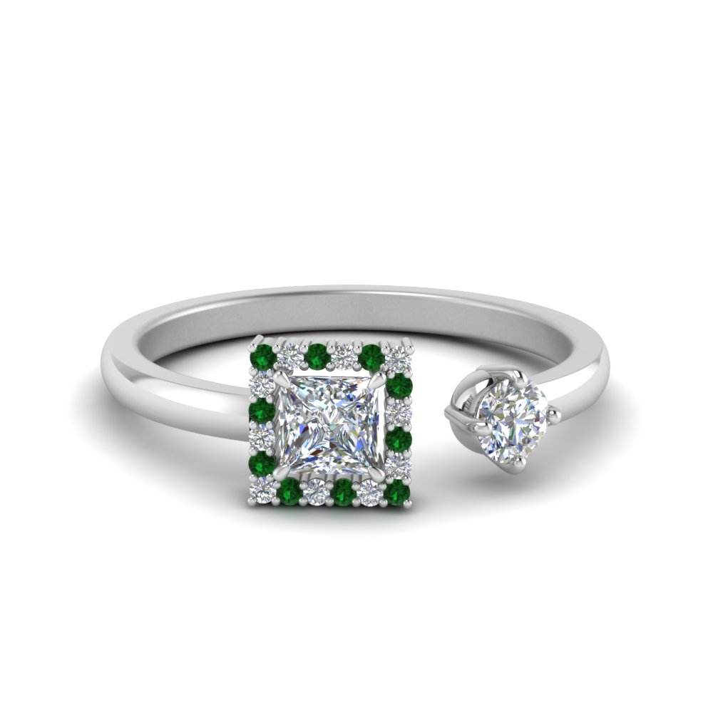 Modern Emerald Engagement Ring