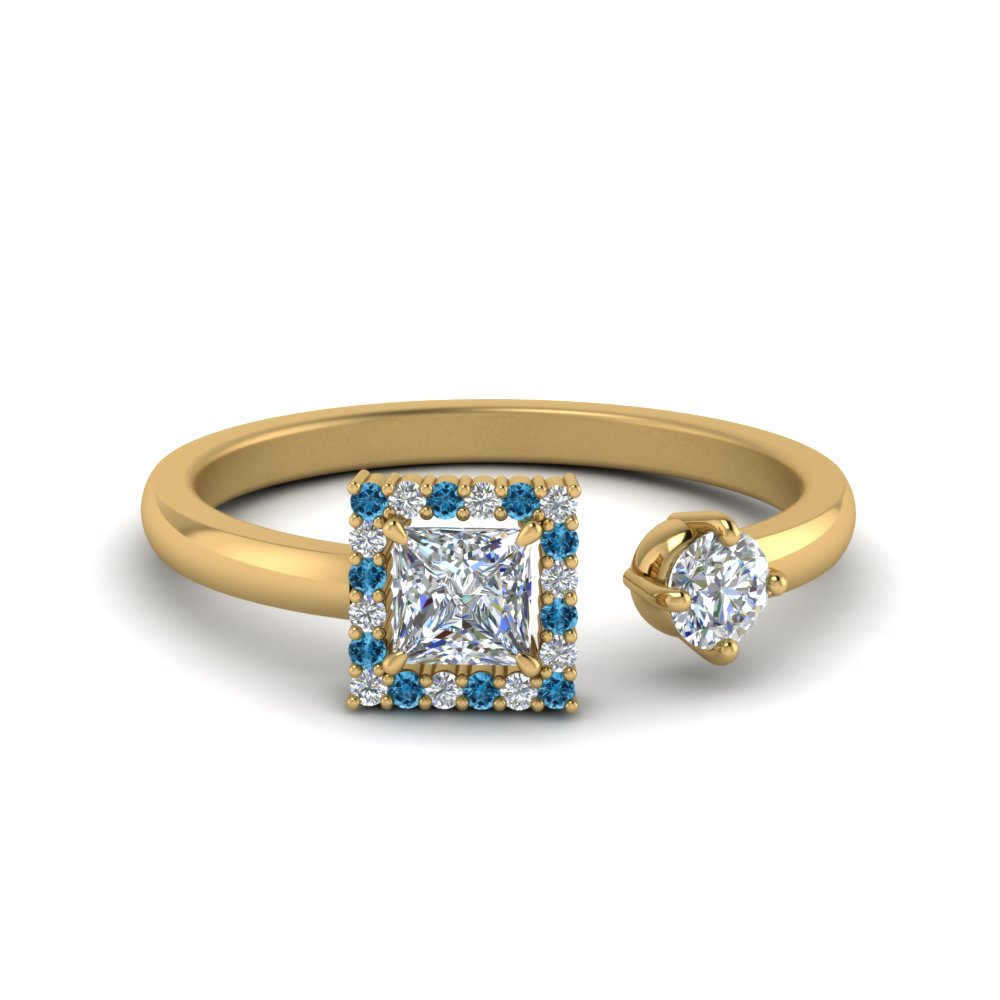 Blue Topaz Fashion Engagement Ring