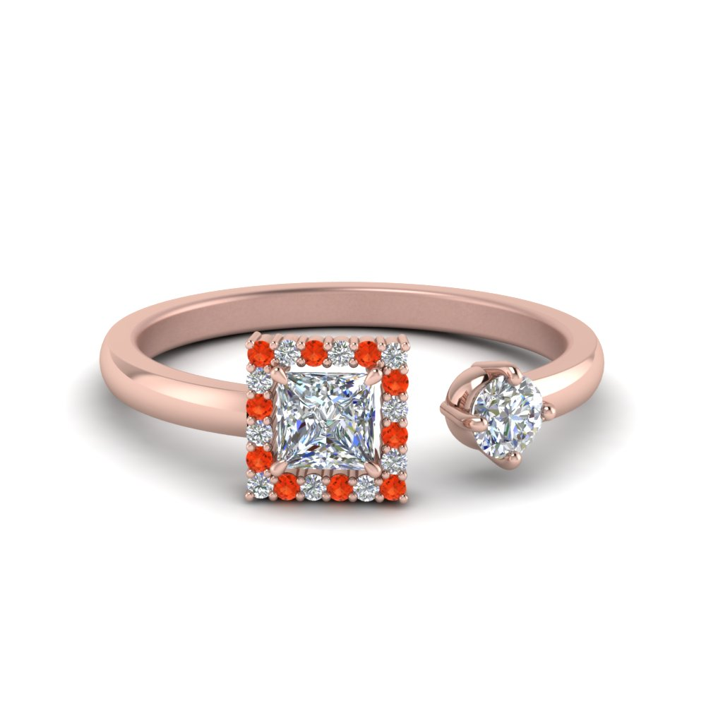 Modern Orange Topaz Engagement Ring
