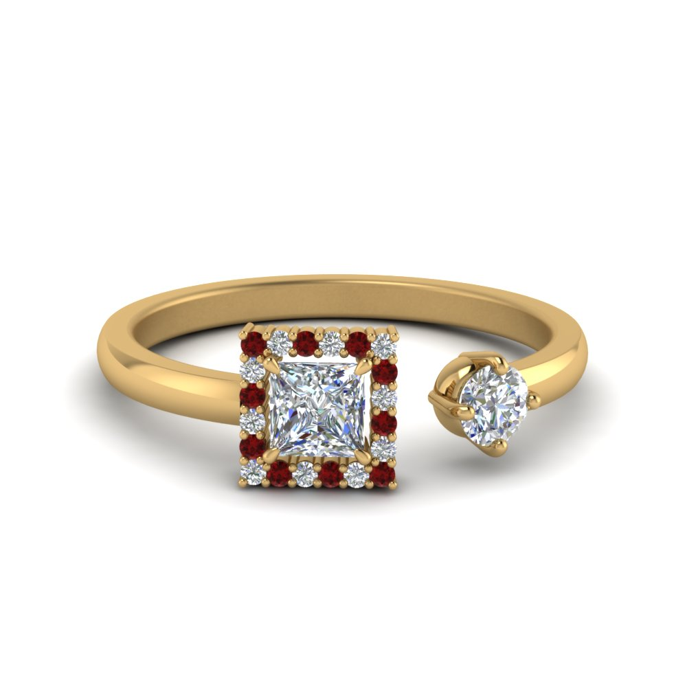 Stylish Ruby Engagement Ring