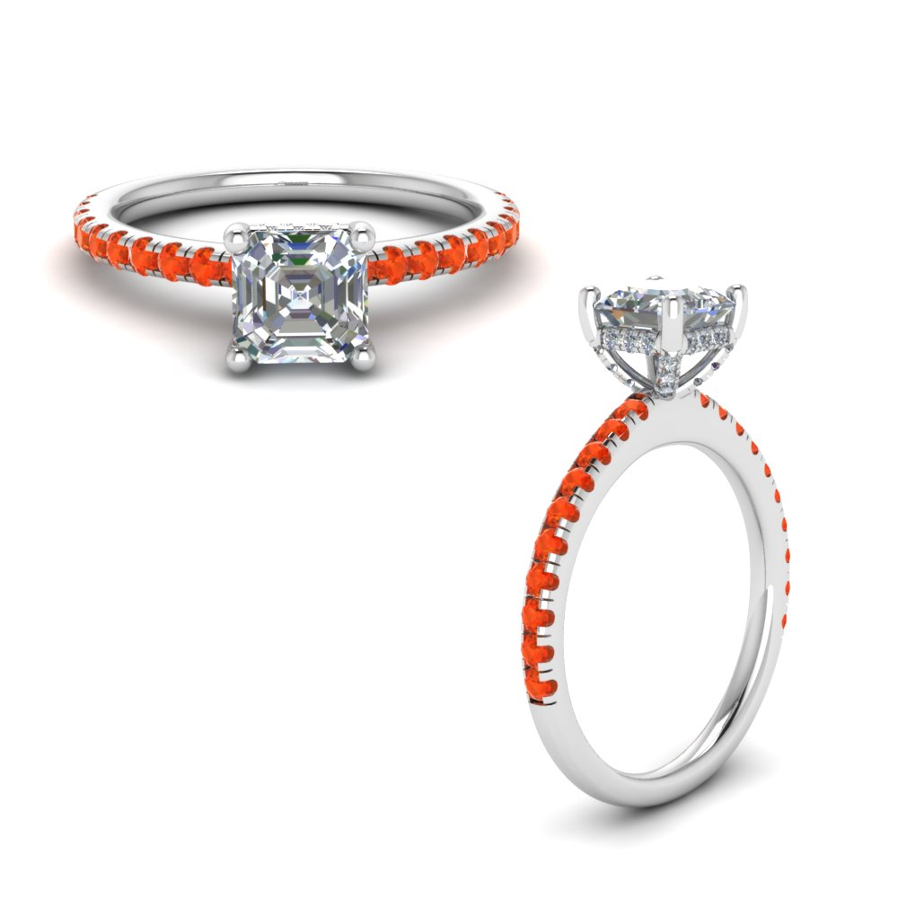 Orange Topaz High Set Ring