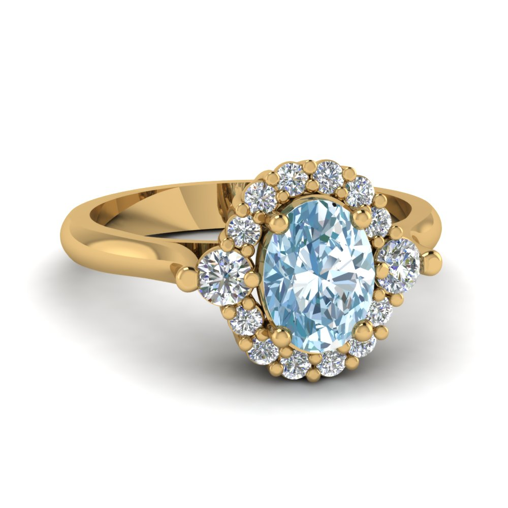Yellow Aquamarine gold engagement rings new photo
