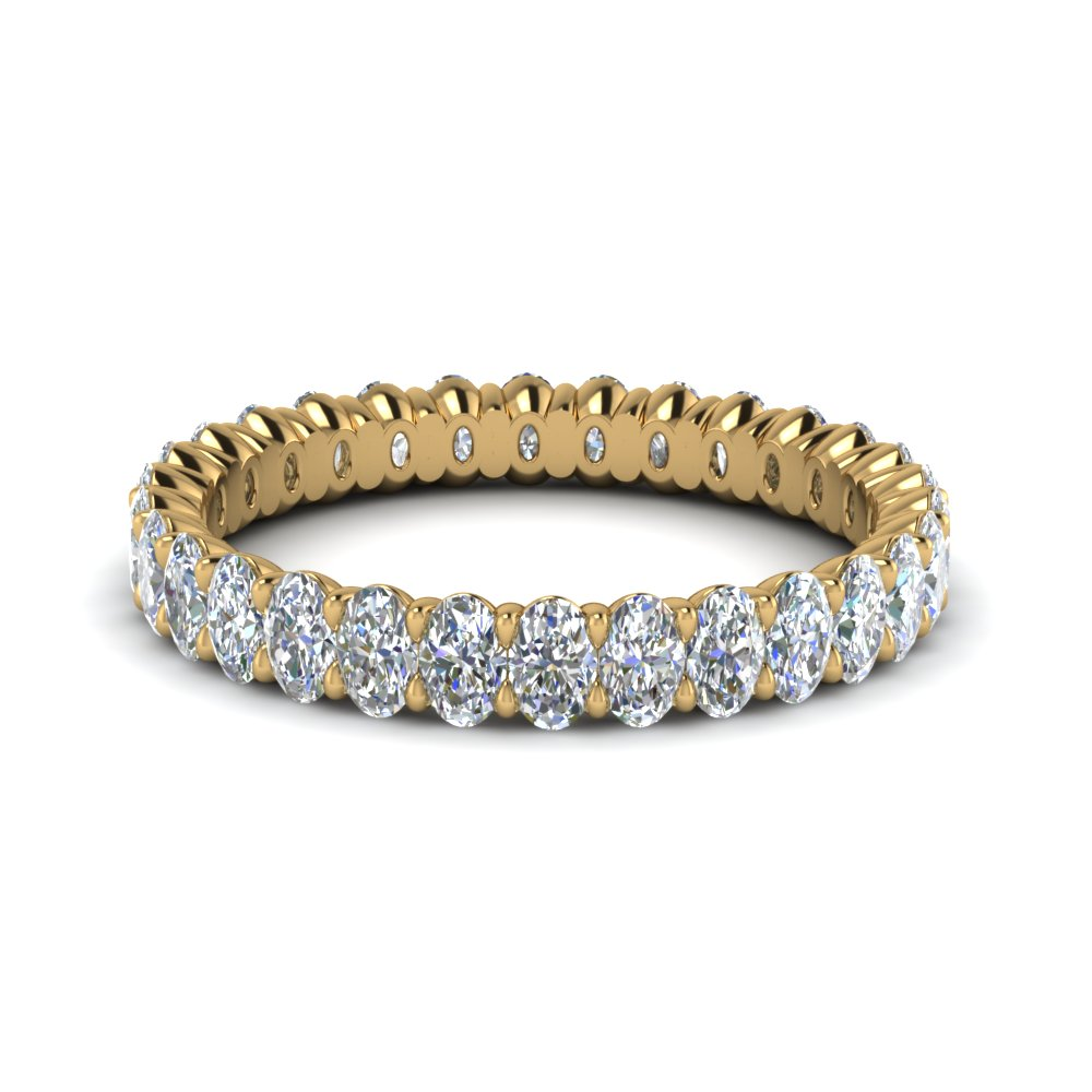 platinum diamond gold white bezel wb eternity bands in wedding set band standard pave