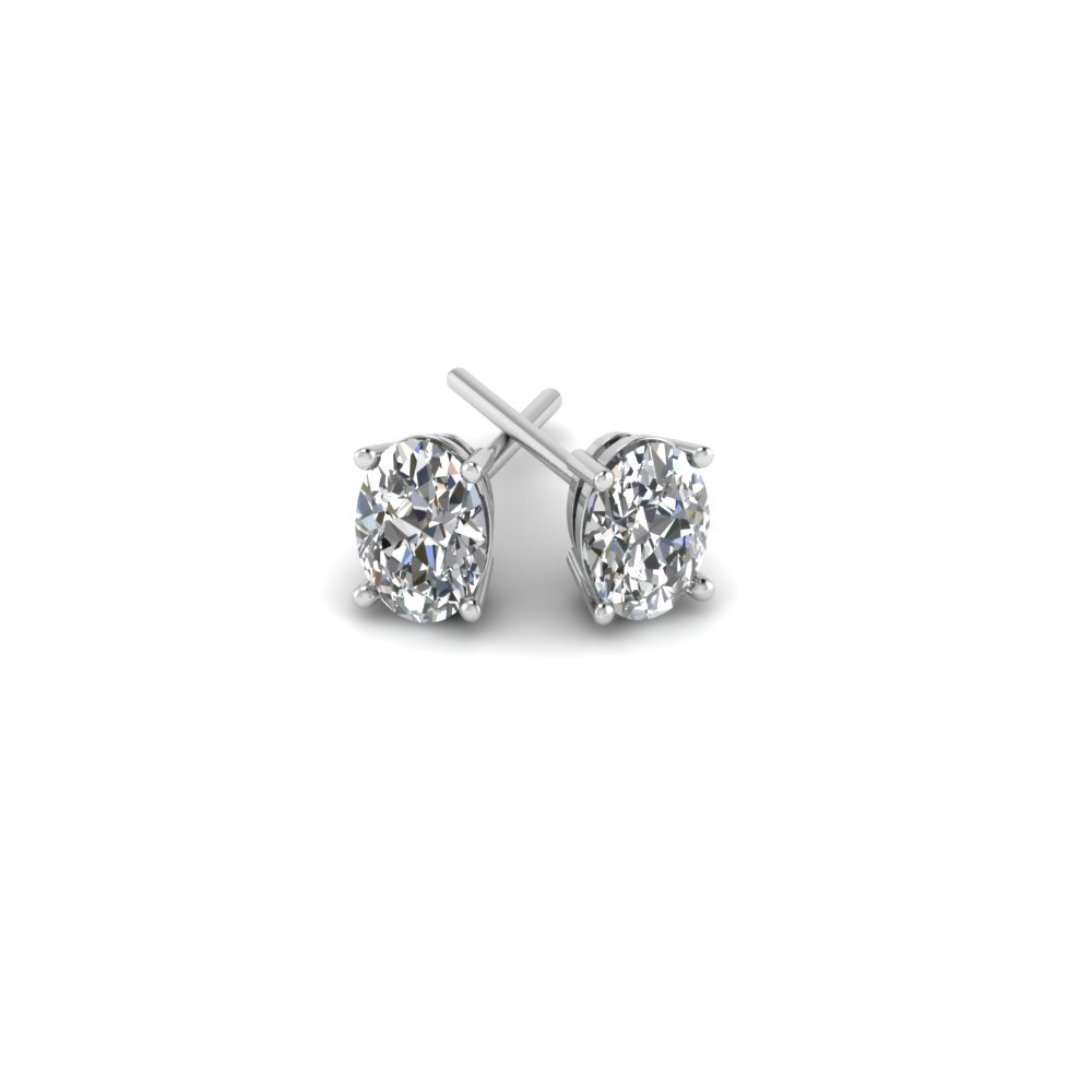 Oval Diamond Stud Earring 2 Carat In Fdear4ov1ct Nl Wg Add To Cart Sku Fdear4ov 1ct