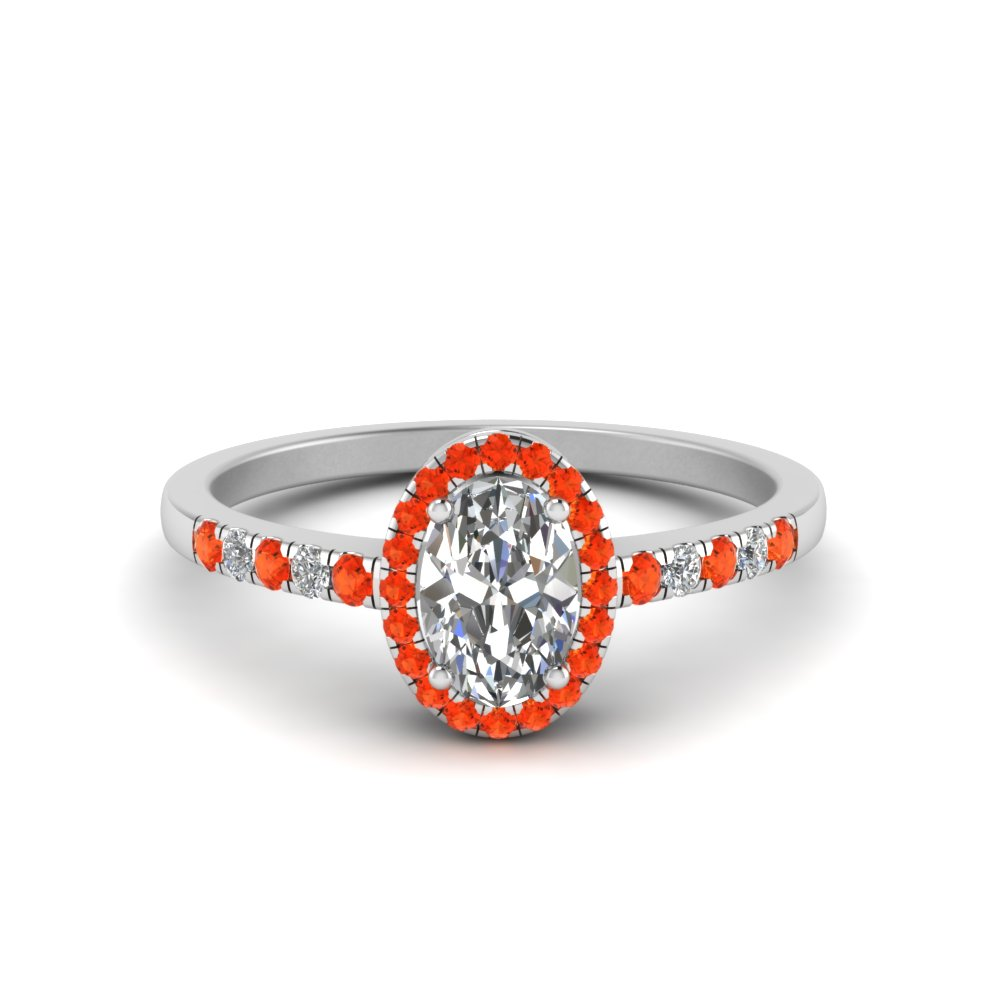Imperial Passion Topaz Engagement Rings