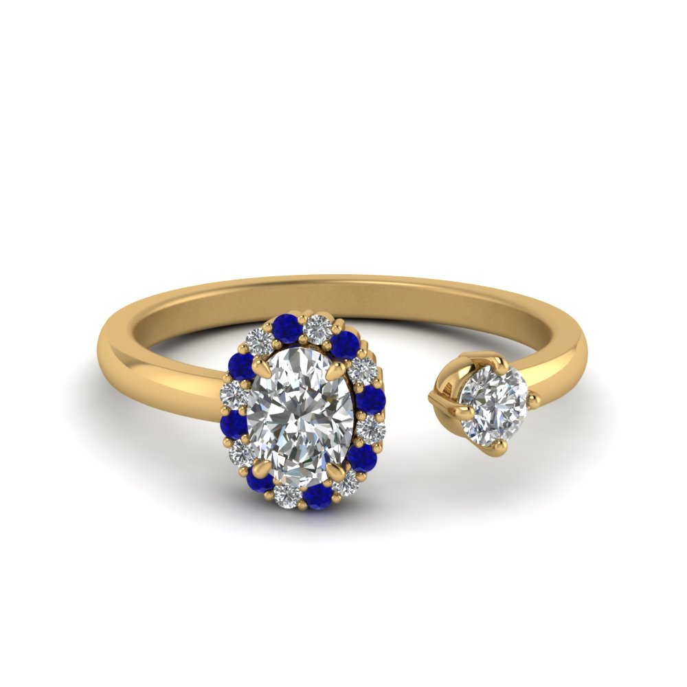 Open Wrap Sapphire And Diamond Ring