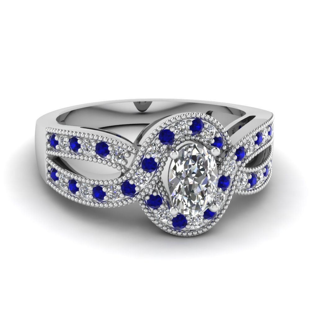 Oval Diamond Infinity Band