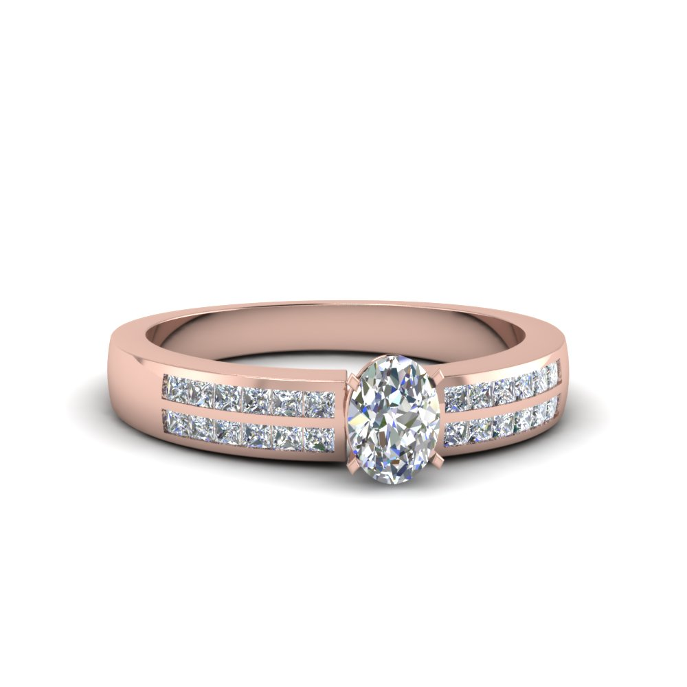 0.75 Ct. Oval Diamond Ring