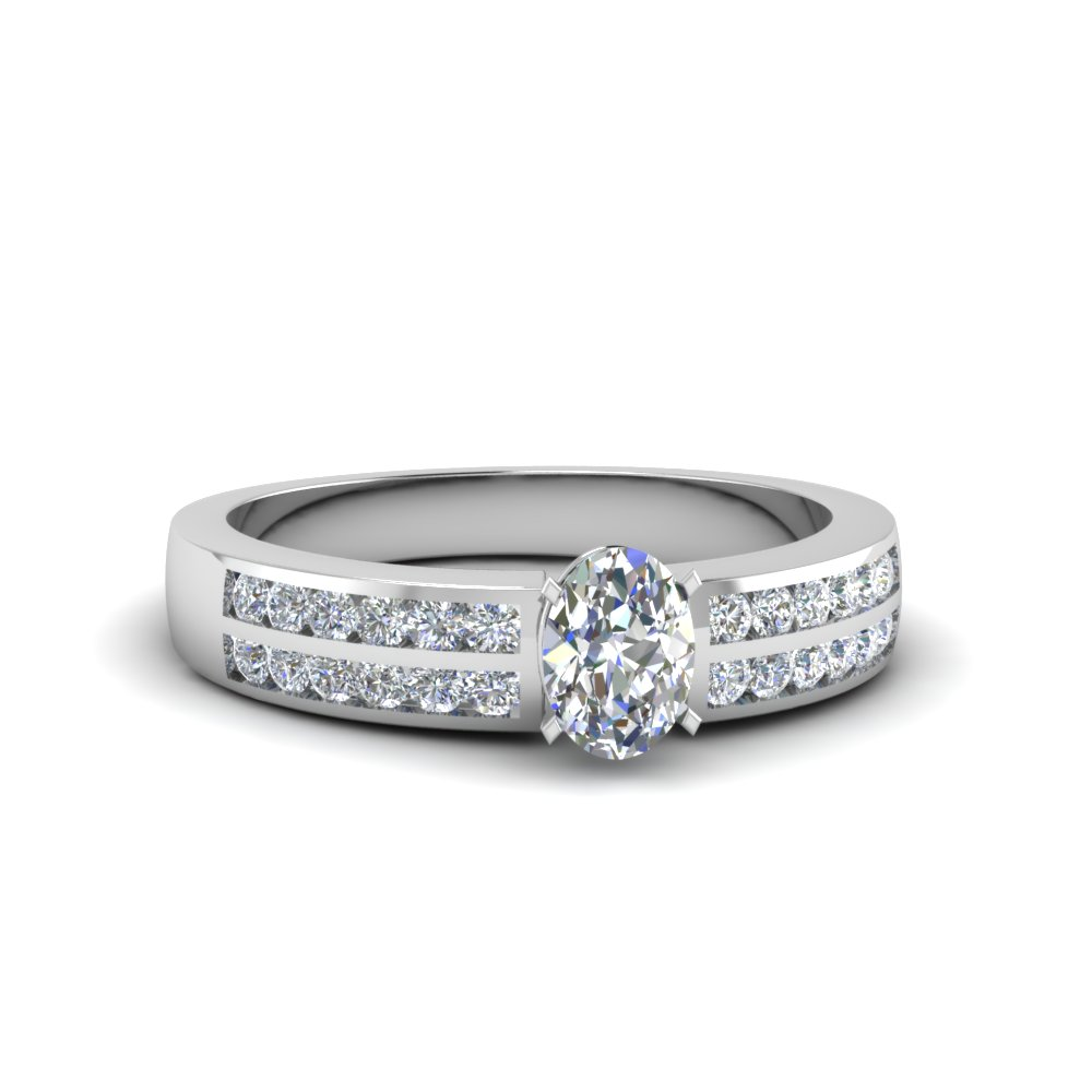0.50 Ct. Oval Shaped Diamond Women Engagement Ring