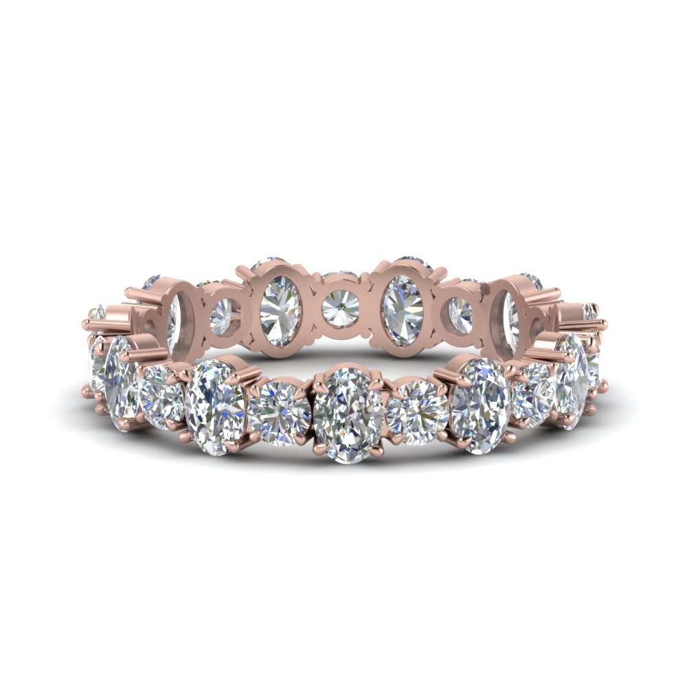 3.50 Ct. Oval Shaped And Round Eternity Band