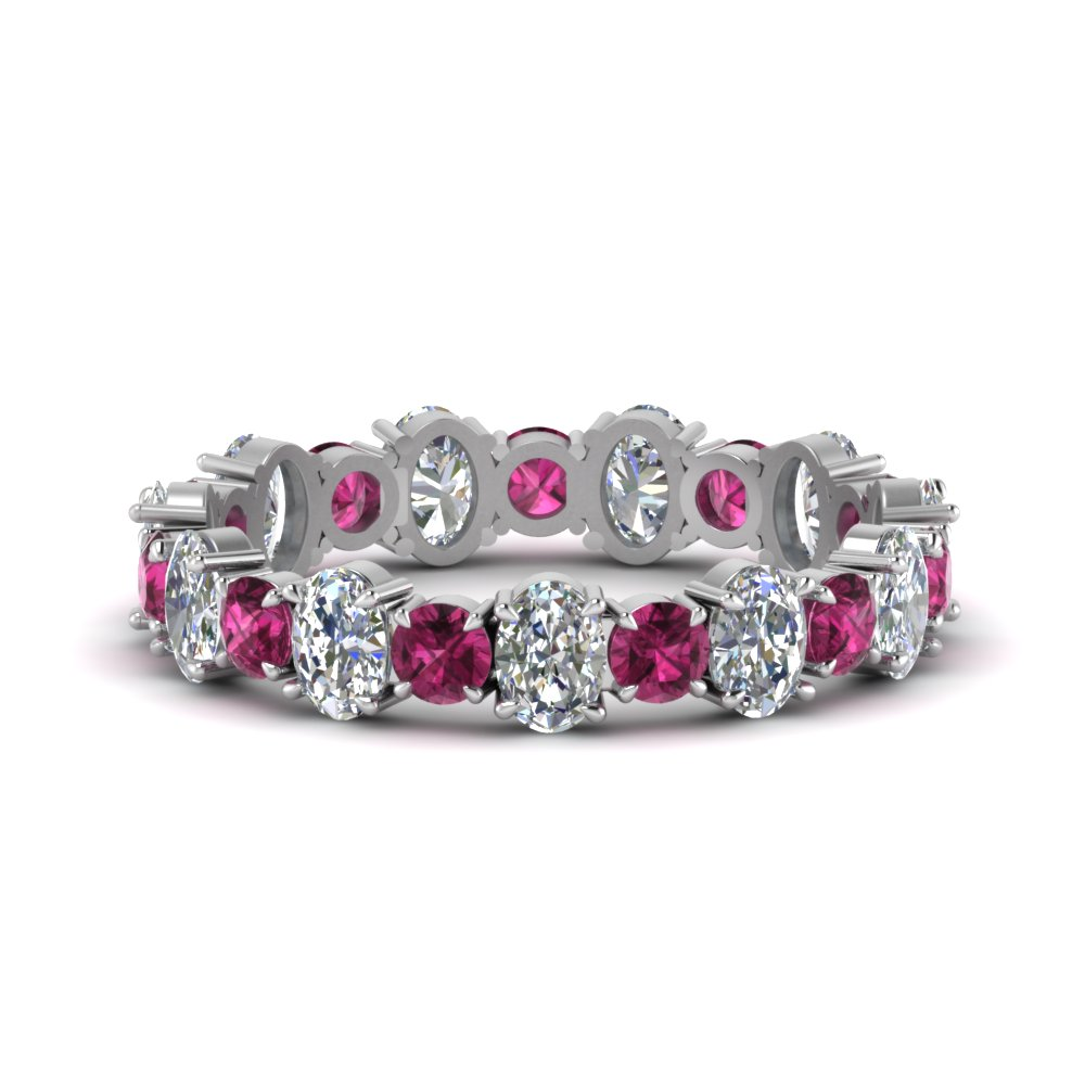 3.50 Carat Pink Sapphire Eternity Band
