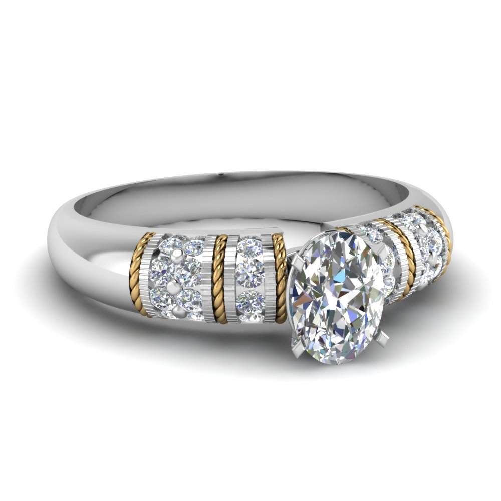 Oval Diamond Vintage Rings