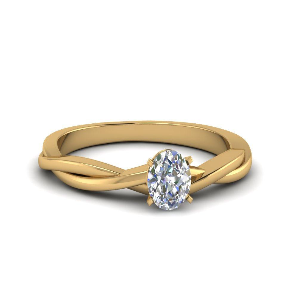 Buy Unique Oval Solitaire Engagement Rings Fascinating Diamonds