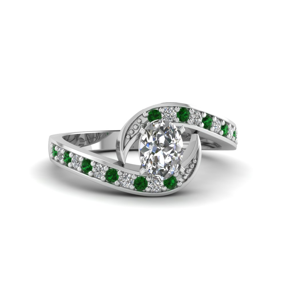 Emerald Bypass Traditional Ring