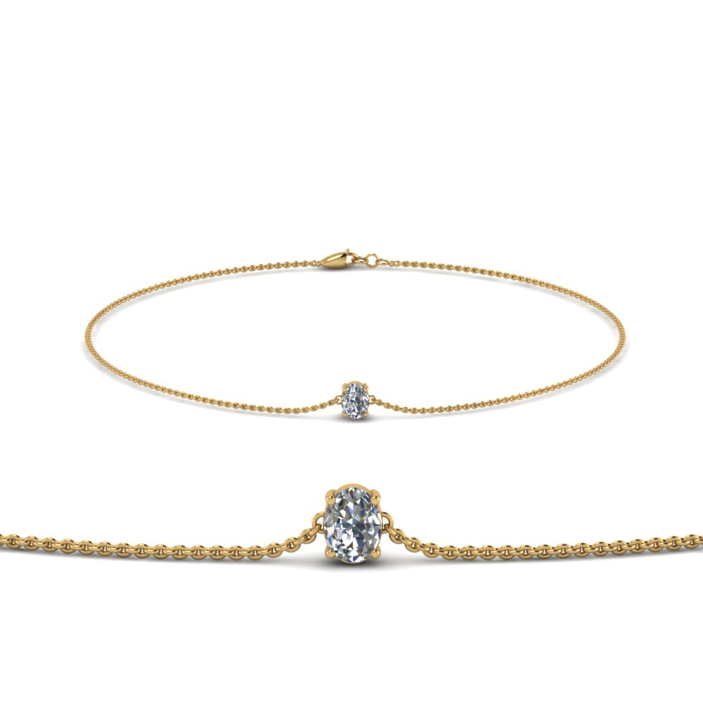 Oval Diamond Chain Bracelet