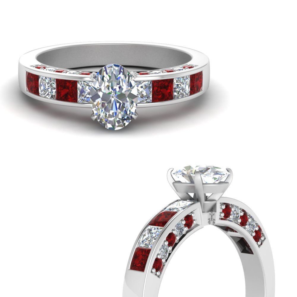 oval shaped channel diamond engagement ring with ruby in FDENS198OVRGRUDRANGLE3 NL WG.jpg