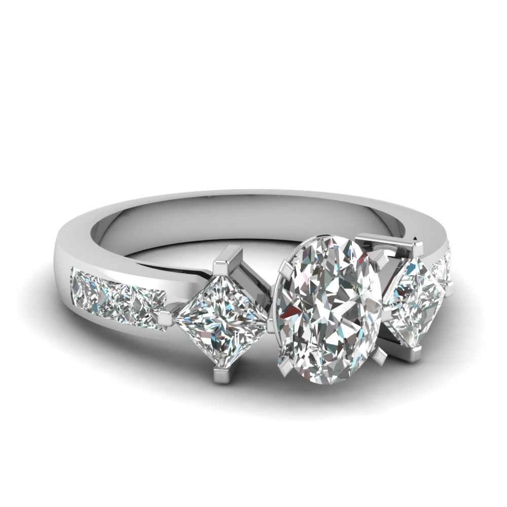 3 Stone Channel Set Engagement Ring