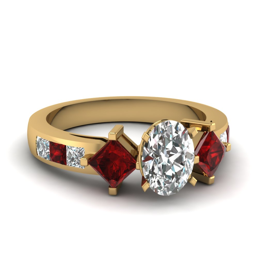 Ruby Accent Engagement Rings Fascinating Diamonds