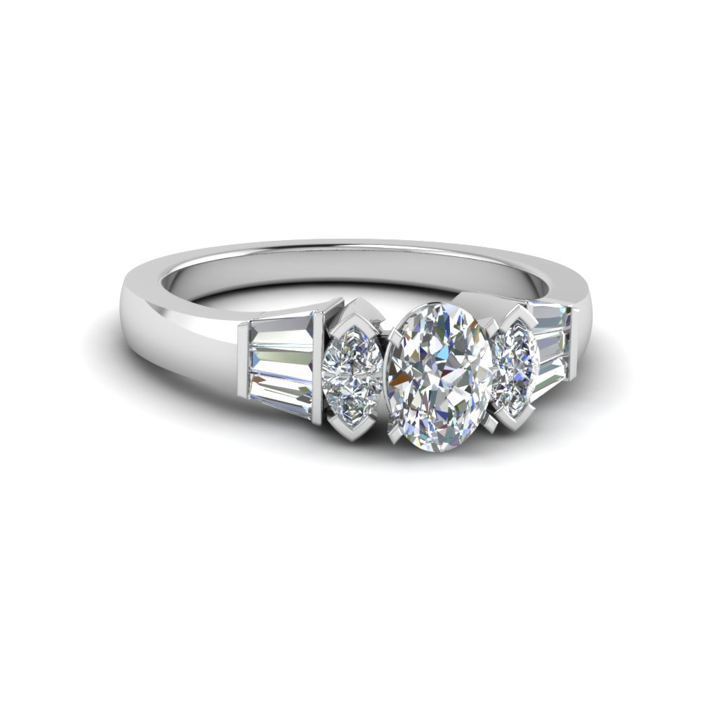 Baguette And Marquise Diamond Ring