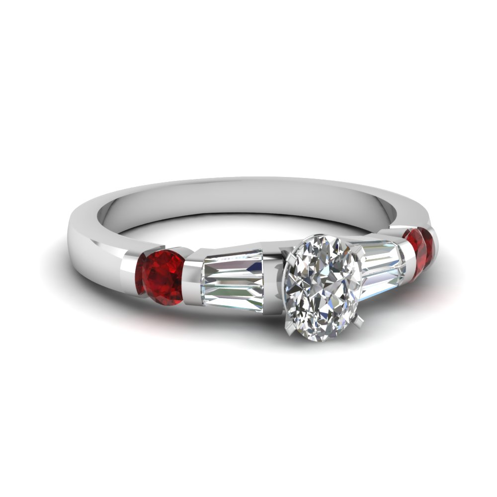 Beautiful Ruby Engagement Ring