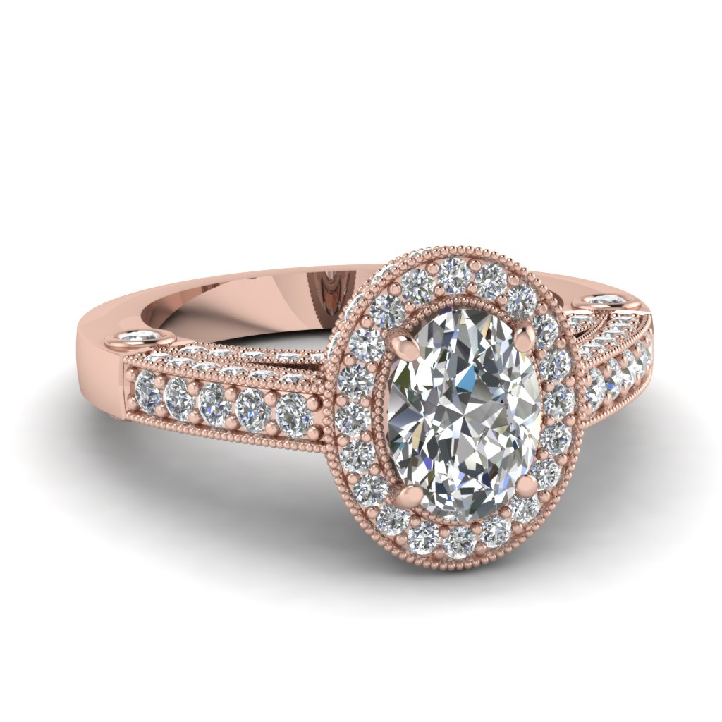 2 Carat Oval Halo Ring