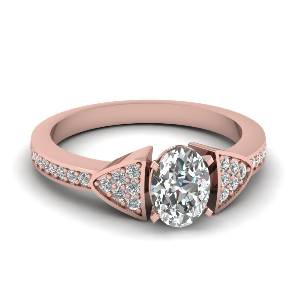 Oval Shaped Cluster Pave Ring