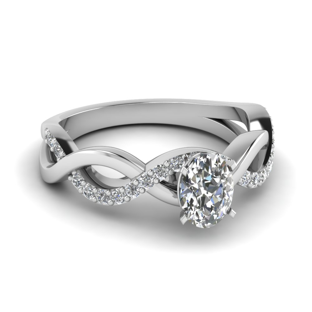 oval diamond infinity band ring in FD1122OVR NL WG GS