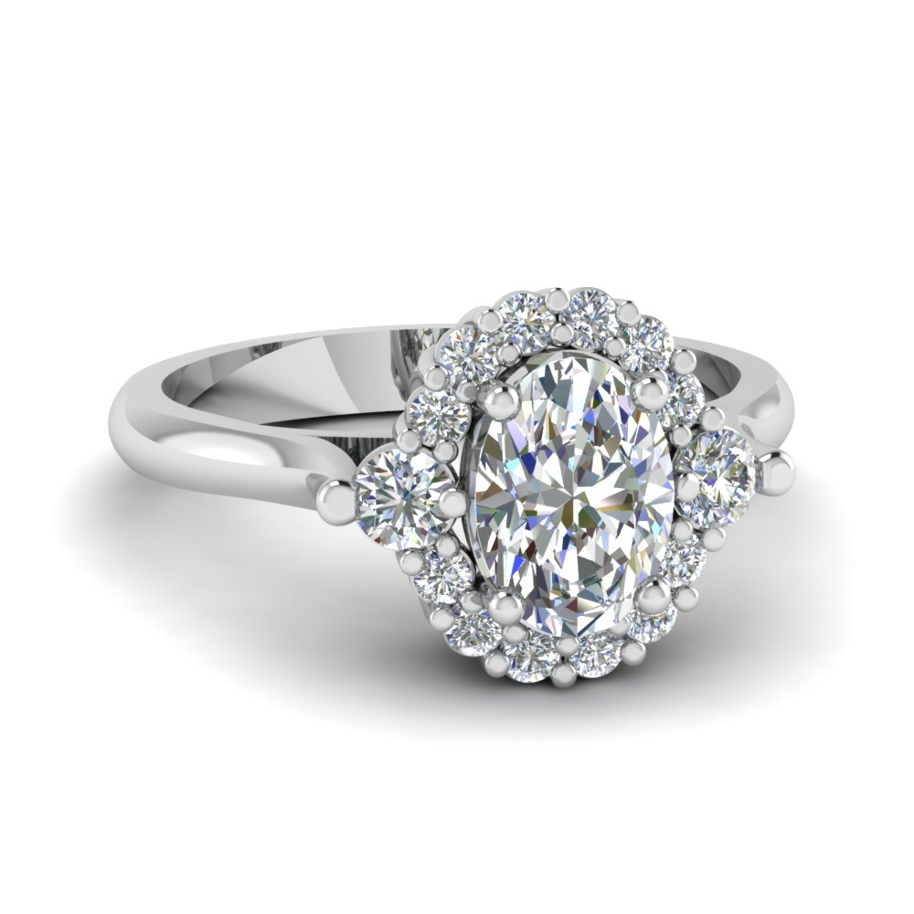 Floral Prong Diamond Ring