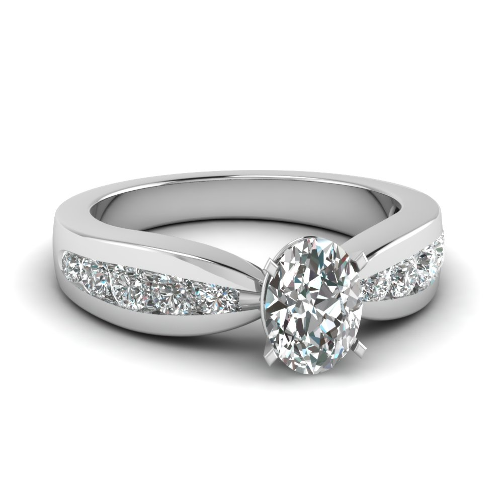 Channel White Gold Diamond Ring