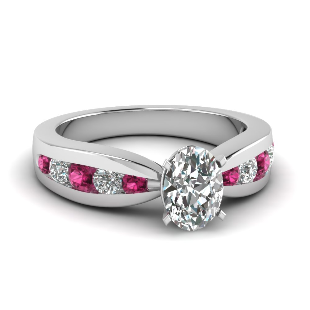 Pink Sapphire Affordable Diamond Ring
