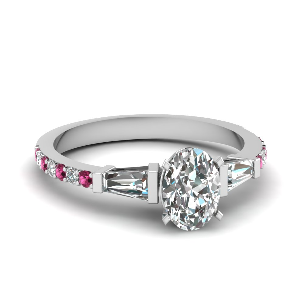 3 Stone Baguette Diamond Ring