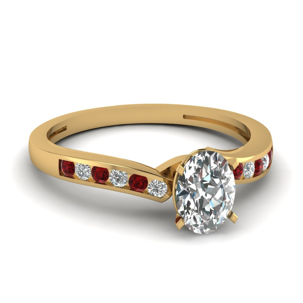 oval shaped diamond channel wedding ring with ruby in FDENS3092OVRGRUDR NL YG.jpg