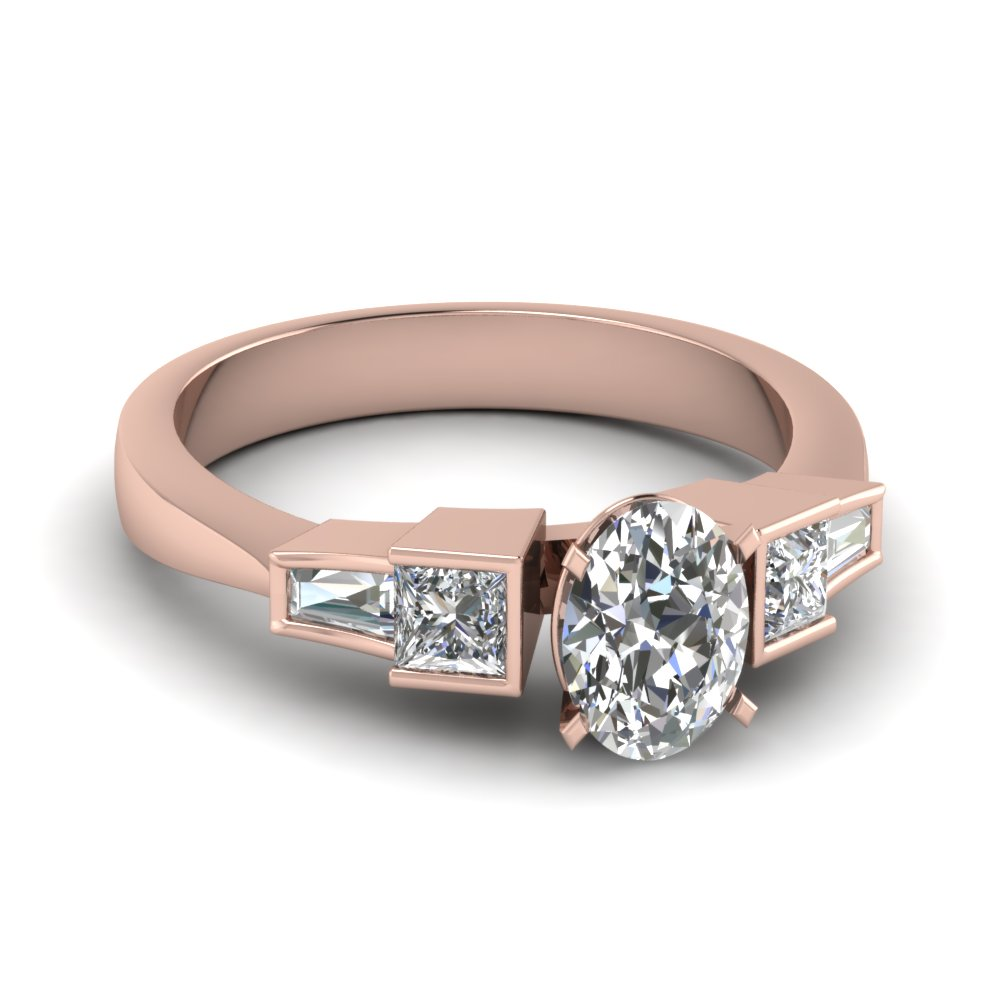 Oval & Princess Cut Diamond Ring