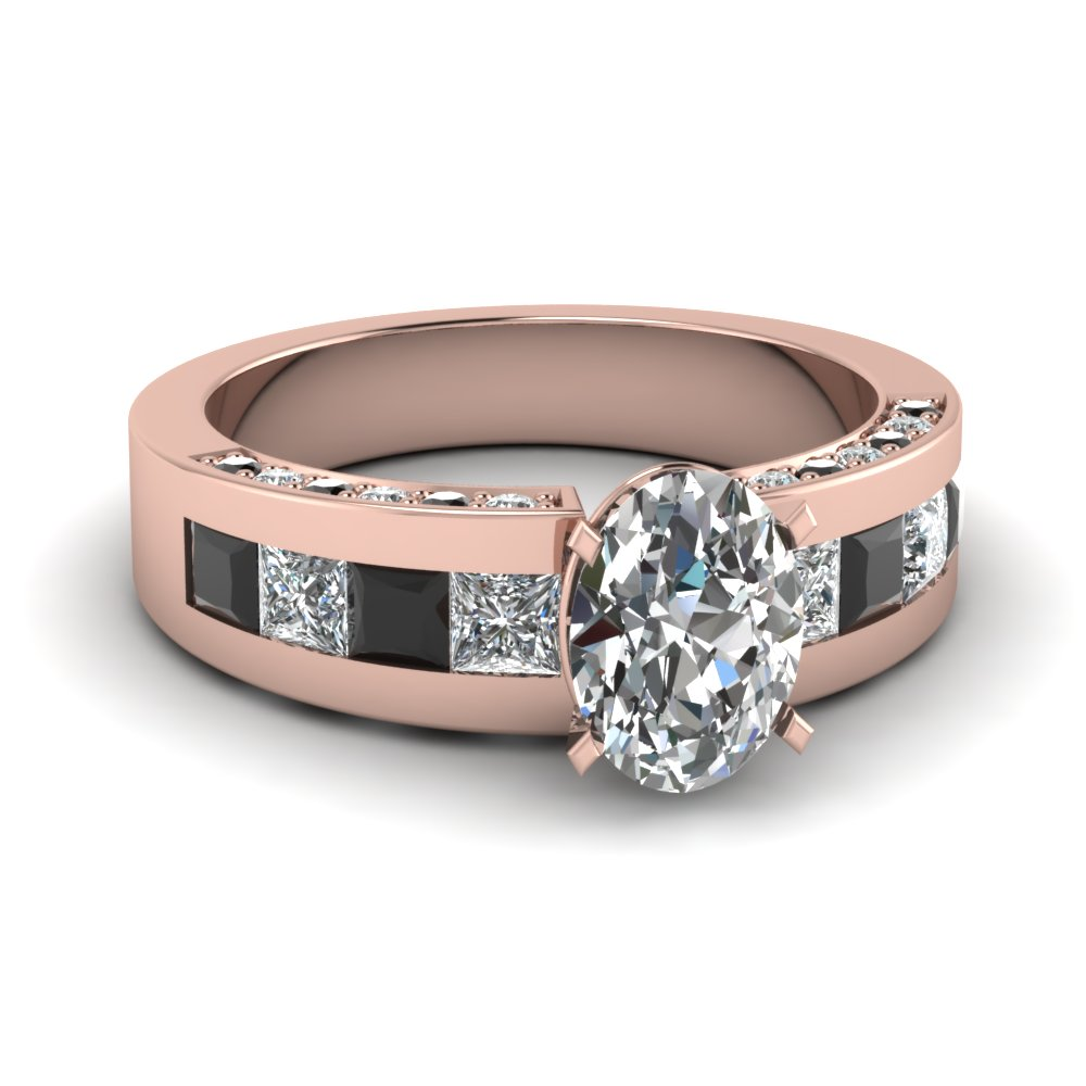 Pink Gold Black Diamond Ring