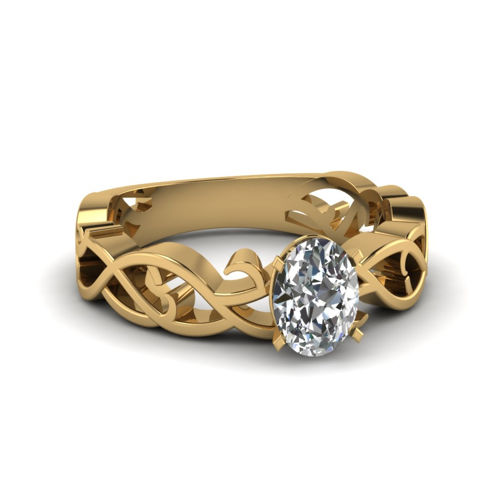 Filigree Oval Solitaire Ring